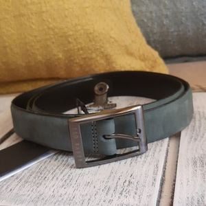 Ted Baker Nubuck Leather Belt made in Italy